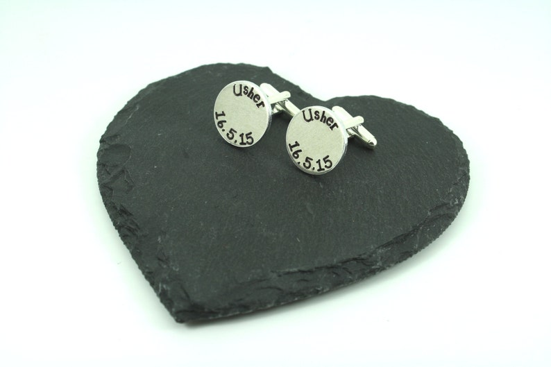Ushers and Page Boys personalized gift for Best Man Personalised Wedding Cuff Links Father/'s Groom