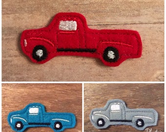 TRUCK FELTIE! Old fashioned truck. Pickup Truck. Slow ride. Felties for hair bow centers, planners, scrapbooking, card making, clothing