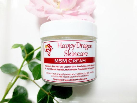 MSM Cream   MSM Lotion   Collagen Cream   Organic Face Cream   Anti Aging  Face Cream, Wrinkle Cream, Beauty Cream   Happy Dragon Skincare