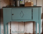 AVAILABLE Petite Server Buffet Sideboard sink vanity, teal