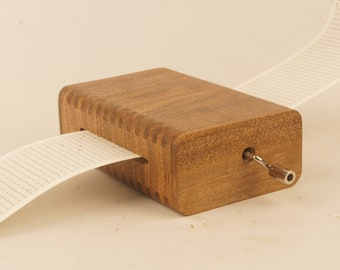wooden music box using strips, 30 note, custom music available, personalized engraving, Christmas gift