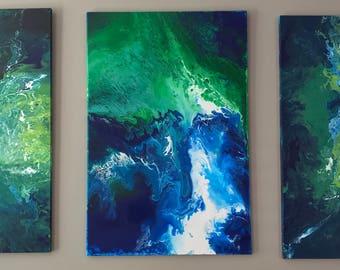 Earth Melt - Fluid Acrylic Painting on Cotton Canvas
