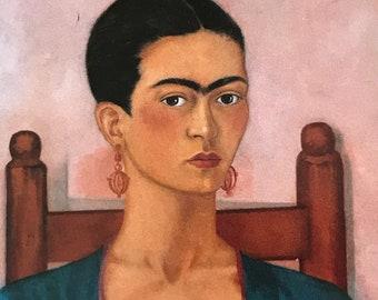 Frida Kahlo-Frida-Art-Self-Portrait-Vintage-Postcard-Mexico-Home decor-Wall Art