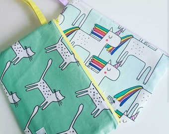 Handmade Wristlet Clutch Bag