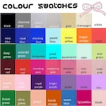 Colour swatches for convertible dresses