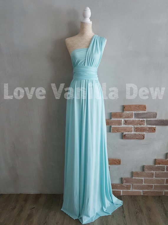 Bridesmaid Dress Infinity Dress Pastel Blue Floor Length Maxi Etsy