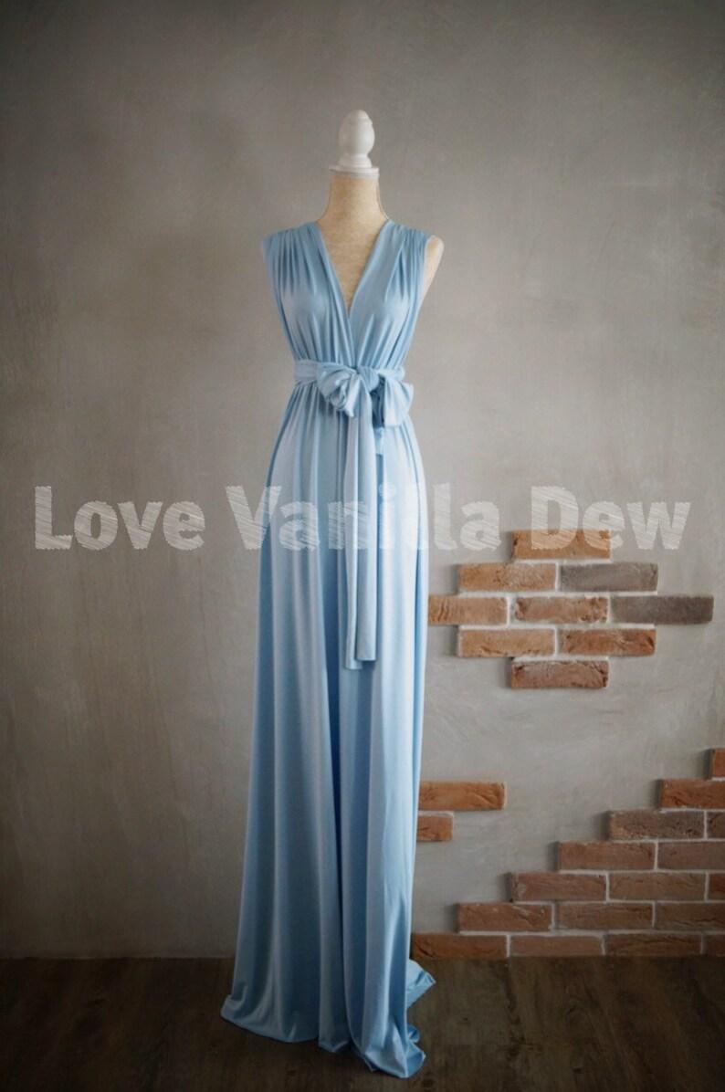 Bridesmaid Dress Infinity Dress Powder Blue Floor Length Maxi image 0