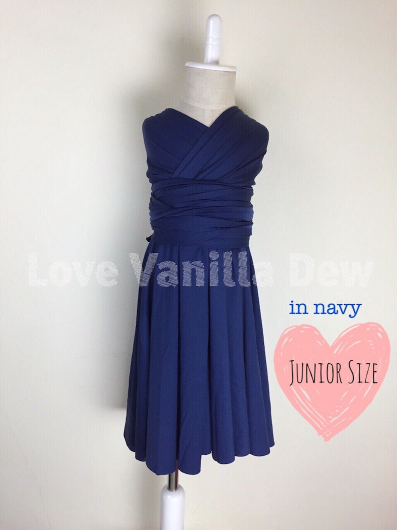 c055bf0d8 Junior Bridesmaid Dress Infinity Dress Navy Blue Convertible | Etsy