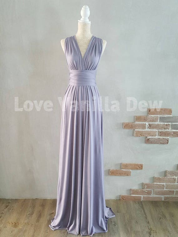 Bridesmaid Dress Infinity Dress Periwinkle Floor Length Maxi Etsy