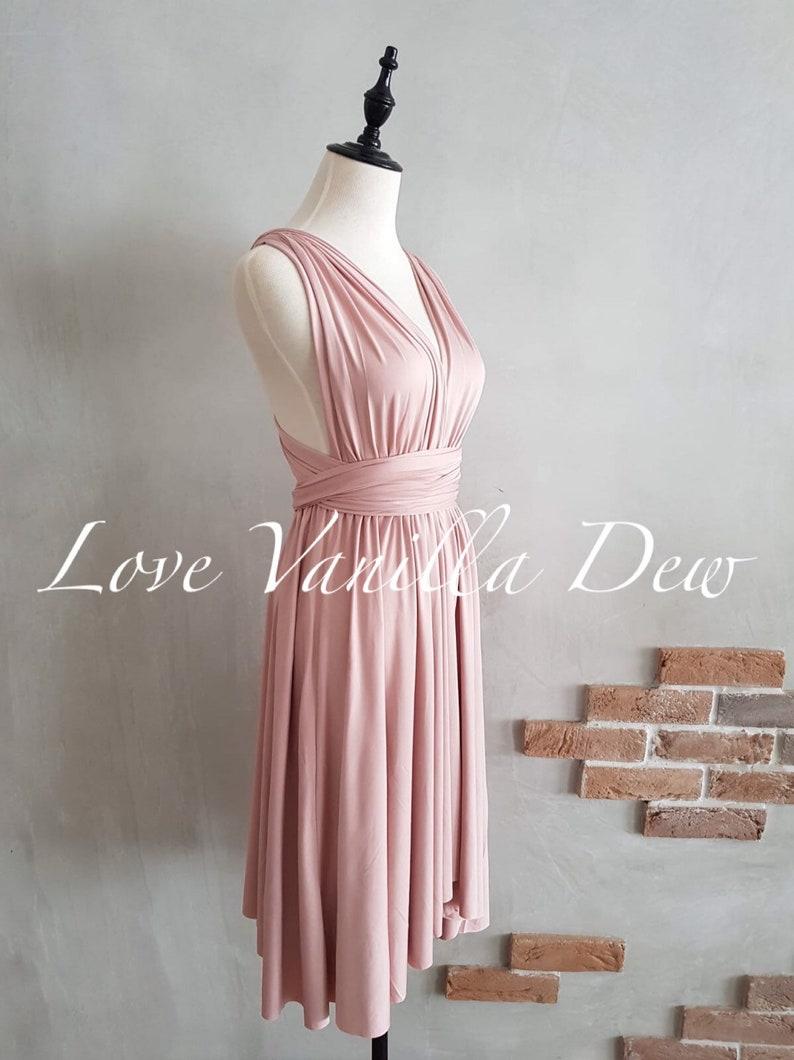 Etsy Rose Pink SHORT Knee Length Infinity Dress