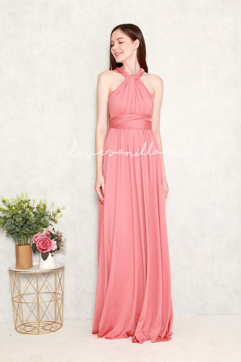 Image 0: Salmon Pink Wedding Dress At Websimilar.org