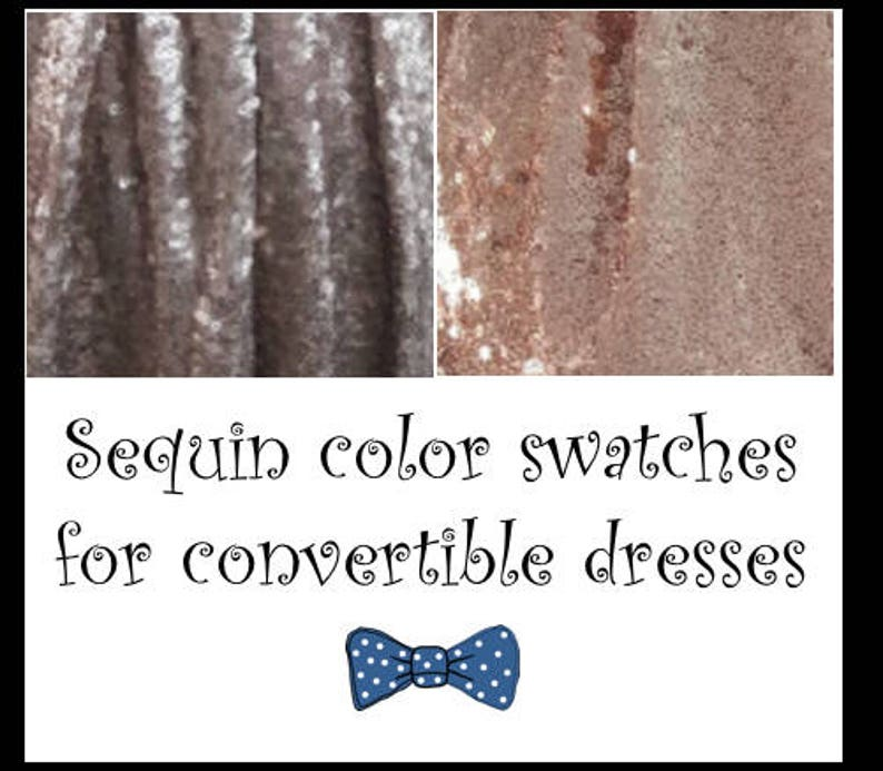 Sequin colour swatches for convertible dresses image 0