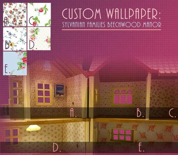 Custom Wallpaper For Sylvanian Families Calico Critters Beechwood Hall Sf4531