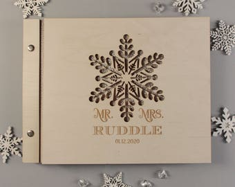 Winter guest book   Etsy