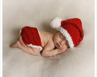 423d81041 Baby Santa Outfit, Baby Christmas Outfit, Newborn Photo Outfit Boy, Newborn  Santa Hat, Baby Hats for Boys, Baby Shower Gift Boy