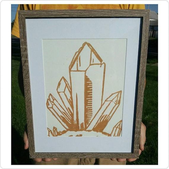 Quartz Art Wiccan Decor Crystal Wall Art Print Crystal   Etsy
