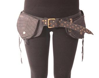 Festival side bag,festival bag,unisex bag,pocket belt,traders bag,psy trance clothing,belt,festival belt