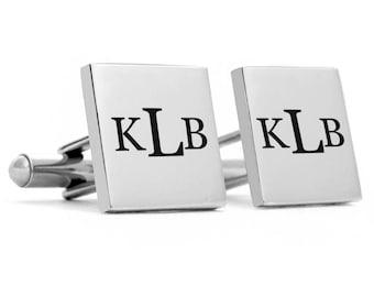 Monogram Cuff links, initial cuff links, custom cuff links, customized cuff links, wedding cuff links