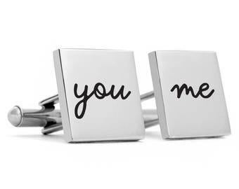 Groom Cufflinks, personalized cufflinks, custom cufflinks, engraved cufflinks, wedding cufflinks