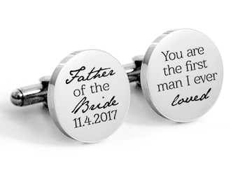 Father of the Bride SALE Father of the Bride Cufflinks The First Man I Ever Loved