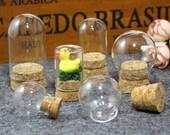 1PCS 25 30 35MM Glass Ball With Corks-Glass Bottles Pendants Empty Small Bottle Jar,Glass Ball,DIY Glass Bottles