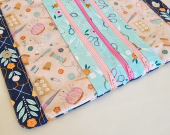 Natalie Pouch PDF Sewing Pattern with SVG file for Cricut, Brother scan and cut