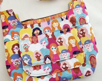 Crossbody Bag PDF Sewing pattern, Ellie bag, shoulder bag, pouch bag, everyday bag, pocket bag, PDF pattern, sewing tutorial, bag pattern