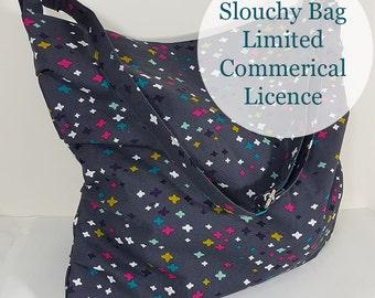 Slouchy Bag Limited Commercial Use Licence - Every day bag, handbag, shoulder bag, market bag, Cross Body bag pattern, Project bag pattern