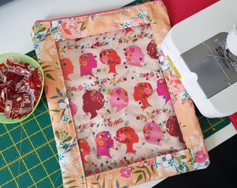 Kit Project Pouch Sewing Pattern, window pouch, zip pouch, DIY pouch, Instant Download, vinyl project bag