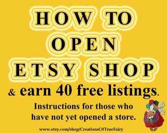 How to open Etsy shop Step by step tutorial how to open Etsy store Start selling on Etsy Newbie guide Starting selling manual Free listings