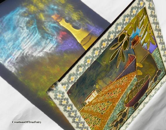 Oliven wand kunst k che dekor wohnzimmer dekor glas for Wand kunst wohnzimmer