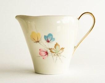 69e3d8ab7de9a Bavaria porcelain creamer with pastel flowers