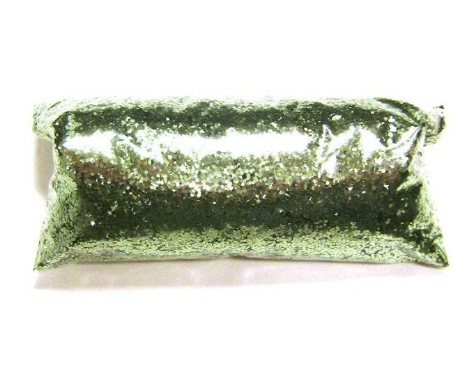 "Bright Ocean Green Glitter Solvent Resistant Polyester .025"" Chunky Poly Glitter Nail Polish, Eyeshadow, Slime, Tumbler, Metallic Glitter"