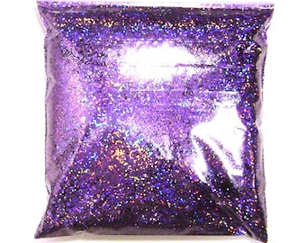 "Lavender Jewels Chunky Holographic Glitter, Solvent Resistant .025"" Large Holo Glitter, Nail Polish, Body & Face, Yeti - 9oz / 266ml Package"