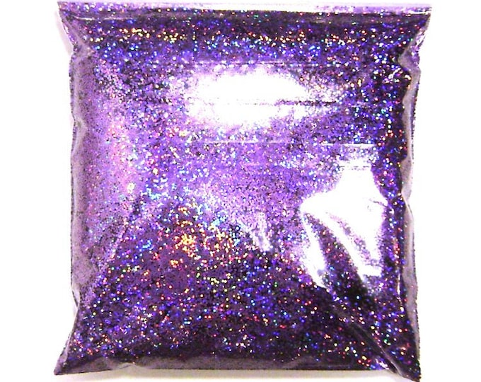 """Lavender Jewels Chunky Holographic Glitter, Solvent Resistant .025"""" Large Holo Glitter, Nail Polish, Body & Face, Yeti - 9oz / 266ml Package"""