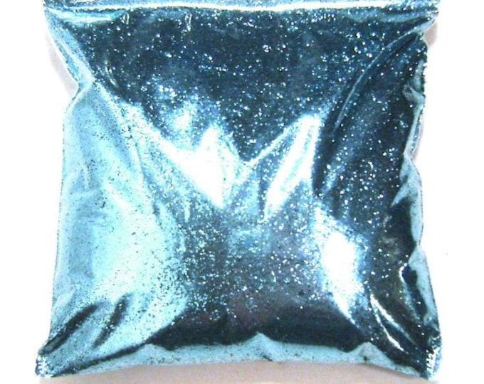 "Metallic Blue Glitter - Tropical Teal .015"" Fine Solvent Resistant Glitter Nail Polish, Body, Tumbler, Shoe Glitter 11oz / 325ml Package"