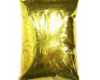 "Rich Gold Glitter, Solvent Resistant Polyester .008"", .015"" or .025"" Very Fine to Chunky Professional Bulk Glitter, 1 lb / 454g Package"
