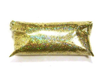 "Gold Jewels Holographic Glitter, Holo Solvent Resistant Polyester .015"" Fine Glitter, Nail Polish, Makeup, Yeti, Slime, Body & Face Glitter"