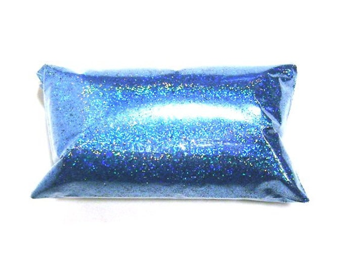 """Sky Blue Jewels Holographic Glitter, Solvent Resistant Rainbow .015"""" Fine Holo, Nail Polish, Lip Gloss, Makeup Glitter - 6oz / 177ml Package"""