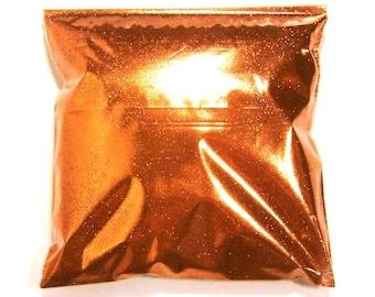 "Metallic Bright Orange Glitter, .008"" Fine Polyester Glitter, Body & Face, Custom Tumblers, Fabric, Nail Polish Glitter 9oz / 266ml Package"