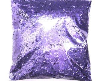 "Regal Purple (Lavender) Chunky Glitter .025"" Poly Solvent Resistant, Nail Polish, Lip Gloss, Resin Jewelry, Bulk Glitter 9oz / 266ml Package"