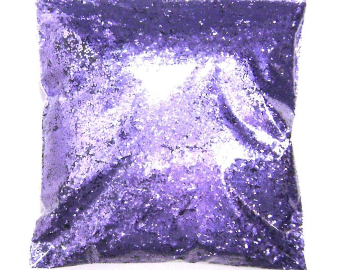 "Regal Purple (Lavender) Chunky Glitter .025"" Poly Solvent Resistant, Nail Polish, Lip Gloss, Resin Jewelry, Bulk Glitter 9oz / 266ml Package"
