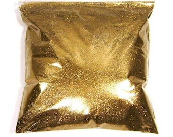 "Golden Chestnut Glitter, Very Fine .008"", Solvent Resistant Poly, Nail Polish, Makeup & Cosmetics, Bulk Tumbler Glitter 11oz / 325ml Package"