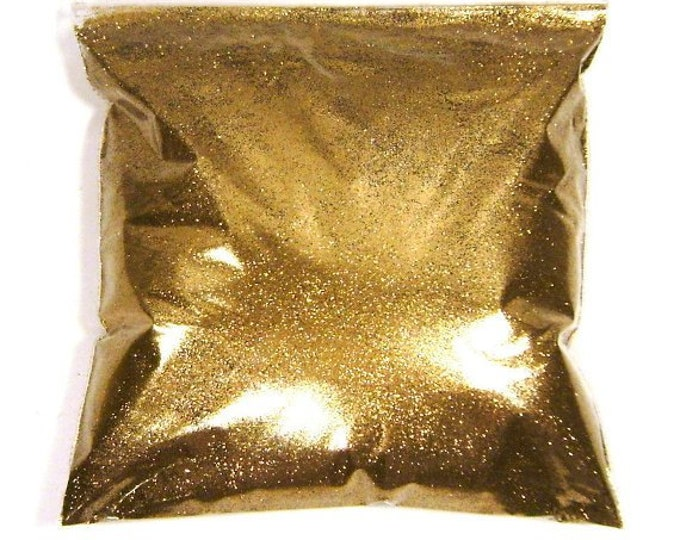 "Golden Chestnut Fine Glitter .008"" Solvent Resistant Poly Bulk Glitter Nail Polish, Makeup & Cosmetics, Tumbler Glitter 11oz / 325ml Package"