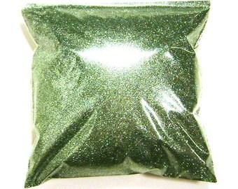 "Fine Glitter Bright Ocean Green Glitter Loose Bulk Solvent Resistant Polyester .008"" Poly Nail Polish, Slime, Body Art 11oz / 325ml Package"