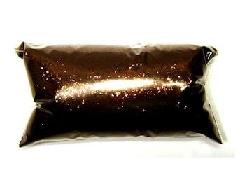 "Brown Chunky Glitter, Antique Bronze Loose Polyester Glitter .025"" Nail Polish, Shoe, Body, Tumbler, Lip Gloss Glitter - 6oz / 177ml Package"