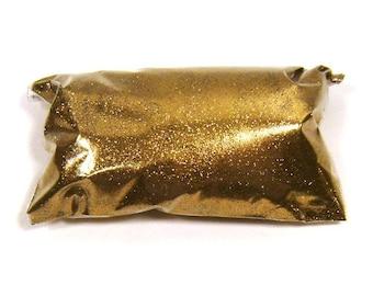 "Golden Chestnut Fine Glitter .008"" Solvent Resistant Polyester Glitter Nails, Jewelry, Tumbler, Resin Eyeshadow Glitter 6oz / 177ml Package"