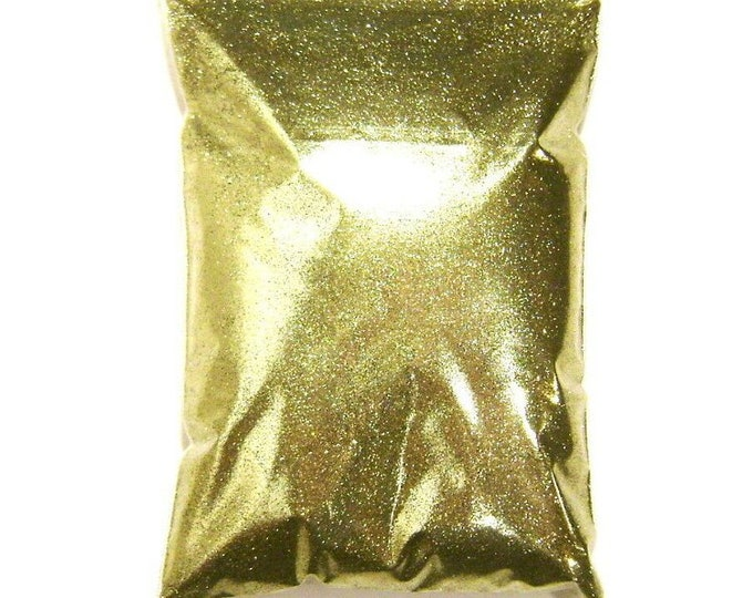 """Bright Gold Glitter, Solvent Resistant Polyester .004"""", .008"""", .015"""" or .025"""" Extra Fine to Chunky, Pro Bulk Glitter - 1 lb / 454g Package"""