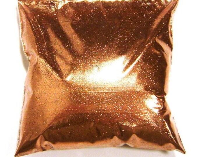"Loose Glitter Shiny Copper .008"" Fine Glitter Solvent Resistant Polyester Tumbler, Nail Art, Slime, Jewelry, Glitter - 11oz / 325ml Package"