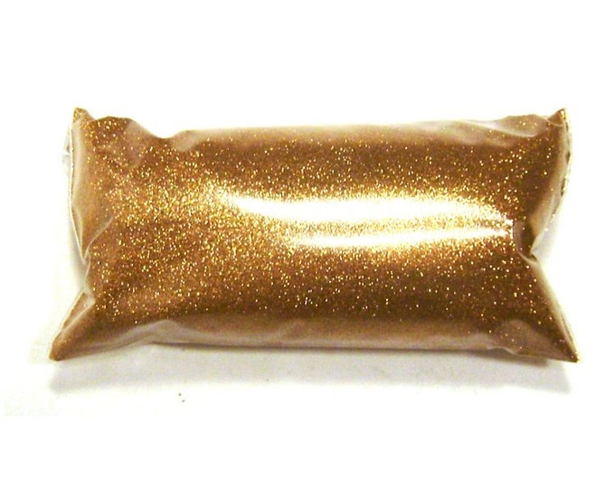 "Metallic Bronze Extra Fine Glitter .004"" Solvent Resistant Poly, Lip Gloss, Nail Polish, Resin Jewelry, Custom Tumblers, Body & Face Glitter"